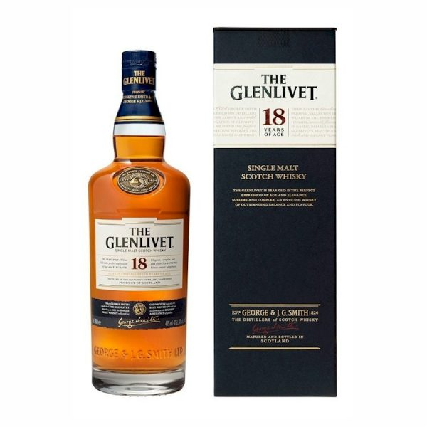 Whisky The Glenlivet Single Malt 18 años 700ml
